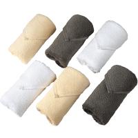 世茂希尔顿授权五星级酒店洗脸毛巾家用纯棉吸水方巾3条礼盒 3色3条装