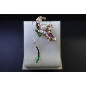 淡水珍珠胸花1