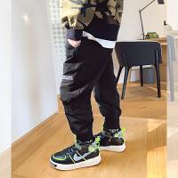 男童运动裤子春新款韩版儿童弹力工装裤