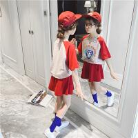 女童套装夏装儿童运动两件套宽松短袖
