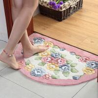 半圆玫瑰剪花吸水地垫入门口脚垫 厨房卧室卫生间门口脚垫防滑垫