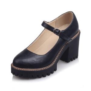 O'SHELL法国欧希尔新品099-873韩版超纤皮高跟女士单鞋