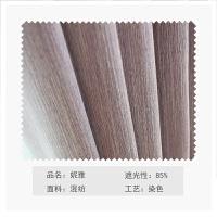 现代简约韩式蕾丝窗帘成品纯色遮光布料客厅卧室飘窗落地窗帘定制