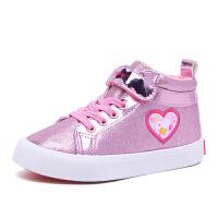 史努比童鞋女童棉鞋冬季加厚棉鞋女童鞋保暖中帮儿童板鞋
