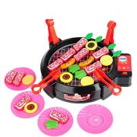 儿童过家家仿真电动烧烤炉玩具幼儿园娃娃家厨房厨具烤肉点心