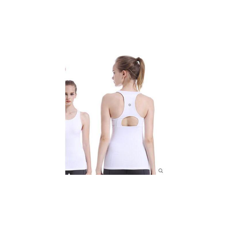 瑜伽服背心女收副乳透气锦纶带胸垫弹力紧身运动健身服 品质保证 售后无忧