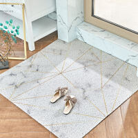 北欧入户门丝圈地垫卧室地毯可裁剪进门垫家用玄关蹭脚垫现代简约 金线大理石可裁丝圈地垫