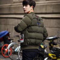 20180321000524875冬季青年男士加厚棉衣韩版棉袄子加大码学生潮流面包服外套
