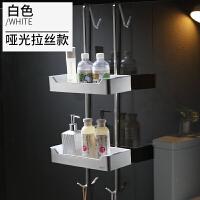 免打孔304不锈钢浴室挂篮 卫生间置物架洗澡间玻璃淋浴房挂钩2层