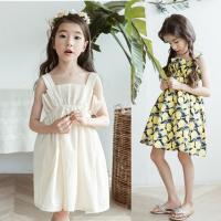 2018夏季新款童装韩版女童纯棉连衣裙女孩公主裙中大儿童吊带裙子