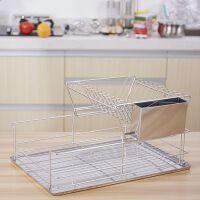 厨房碗架沥水架304不锈钢层半碗碟架碗筷餐具收纳碗盘置物架
