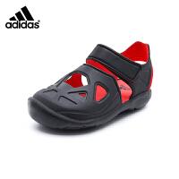 【4折价:147.6元】阿迪达斯(adidas)新款童鞋男童户外包头魔术粘儿童凉鞋DB0486 一号黑