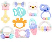 婴幼儿玩具 幼儿手摇铃玩具牙胶磨牙棒宝宝儿童生日礼物 可水煮十件套