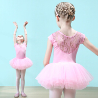 儿童舞蹈服女童练功服夏季短袖幼儿连体跳舞裙蓬蓬裙女孩芭蕾舞裙