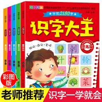 识字大王学前2180字5册 看图认字卡片神器 学龄前儿童3-6岁 幼儿园幼小衔接教材全套大小中班阅读与识字书 一年级基