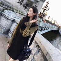 背带裙秋冬女新款女装A字短裙子韩版学生女装时尚潮