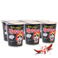 韩国进口三养超辣火鸡面70g*6杯桶装面速食干拌方便面辣鸡面包邮
