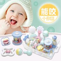 新生婴儿玩具0-3-6-12个月幼儿益智婴儿摇铃牙胶手摇铃宝宝