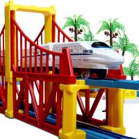 仿真动车模型高铁火车轨道3-6岁儿童 和谐号小火车玩具电动轨道车