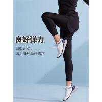 户外紧身裤女薄款假两件跑步瑜伽健身裤运动裤速干裤