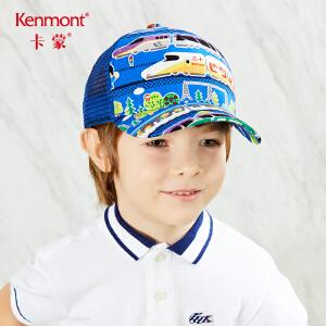 卡蒙3-6岁棉质儿童帽子男潮小孩卡通棒球帽夏透气防晒宝宝鸭舌帽4619