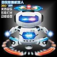 新款太空跳舞电动机器人 360度旋转灯光音乐 玩具