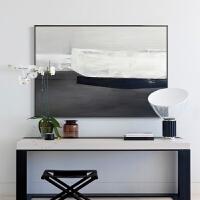 北欧风格客厅装饰画现代简约抽象画卧室床头画壁画挂画墙画黑白 单幅价格