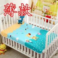 隔尿垫 超大儿童尿垫 大号防水纯棉透气婴儿防水可洗夏天床垫 深天蓝 蓝色萌鹿(薄款) 大号