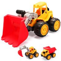 儿童玩具汽车男宝宝推土工程车挖土机男孩1-2-3-4-6周岁7岁挖掘机