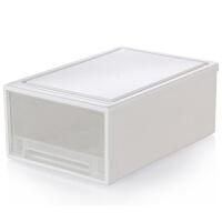 加厚透明抽屉式塑料收纳箱宝宝衣物衣柜收纳盒桌面整理盒储物箱子