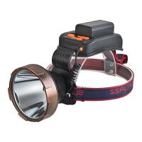 led头灯强光充电米防水夜钓黄光矿灯 头戴式手电筒大功率
