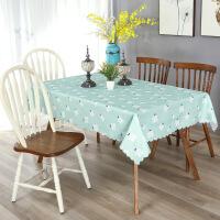 防水布艺桌布布艺长方形格子简约时尚茶几台布圆桌方餐桌盖布巾.