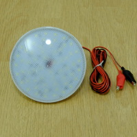 12V12W大功率LED营地灯/户外超轻临时电池灯/二用电源烧烤照明灯