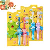 【支持礼品卡】青蛙牙刷 儿童3-6-12岁细软毛护龈小刷头 可爱卡通手柄4支装 y0f