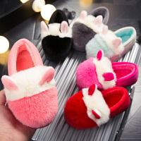 可爱防滑男女童儿童棉拖鞋秋冬季包跟家居室内卧室小孩宝宝