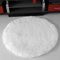 圆形地毯白色背景地毯衣帽间服装店橱窗地毯垫展台展示装饰毛毛毯