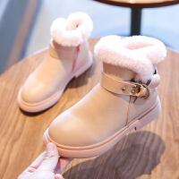 女童靴子秋冬�和��r尚�R丁靴小女孩中筒加�q皮靴公主�窝�