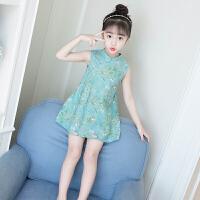 女童连衣裙夏装2018新款洋气儿童公主裙夏季旗袍裙5岁6小女孩裙