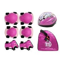 奥得赛儿童直排溜冰鞋防护套装019护具六件套018头盔B2单肩包专业
