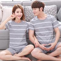 夏季纯棉女款情侣睡衣男士短袖卡通全棉女睡衣韩版家居服两件套装