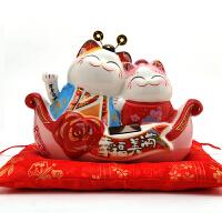 良缘来吧猫存钱罐婚礼对偶创意结婚礼物实用婚庆礼品新房摆件爱情猫