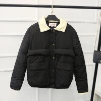 大码女胖MM加肥加大码韩版冬装新款宽松显瘦短款棉衣YK80