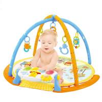 宝宝0-3个月新生婴儿脚踏钢琴健身架0-1岁男孩女孩玩具音乐灯光多功能婴幼儿早教玩具 圆形脚踏钢琴健身架
