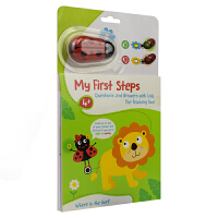 My First Steps Lion 我的步瓢虫宝贝游戏书小狮子英文原版进口图书儿童启蒙活动游戏书数字形状单词比大小