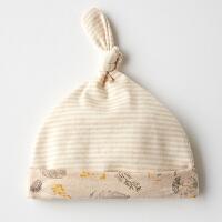 【3件3折后6.48】婴儿帽子春夏薄款新生儿夏季春秋初生宝宝0-3个月6护囟门纯棉胎帽