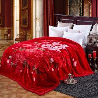 家纺2017秋冬新款保暖毛毯 加厚毛毯 婚庆床上用品毛毯 毯子 200*240CM 10斤