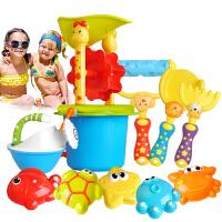 儿童沙滩玩具套装宝宝戏水洗澡挖沙决明子工具大号铲子桶沙漏组合