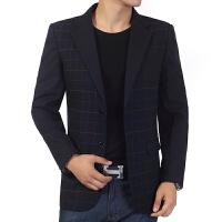 中老年男士西装领夹克薄款秋装男装外套爸爸装中年修身上衣