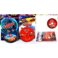 赛车/汽车总动员三部曲3DVD迪士尼英语动画片电影光盘光碟片正版