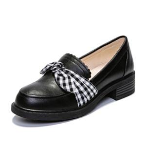 O'SHELL欧希尔新品106-4229欧美低跟方跟女士单鞋